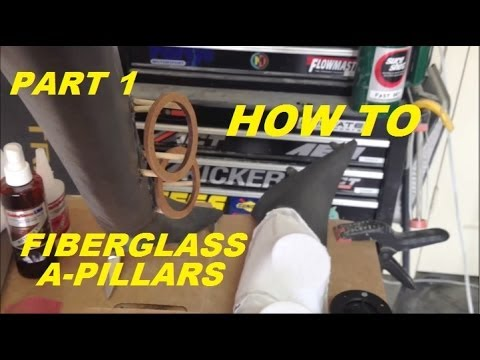 HOW TO:  Fiberglass A-pillar Pods:  Tweeters Part 1