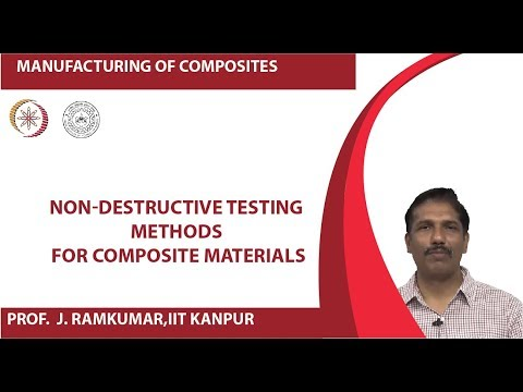 Non-destructive testing methods for composite materials