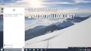 Playing with Cortana on Windows 10 Technical Preview!