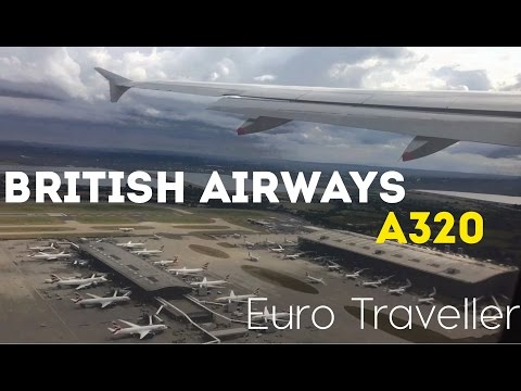 British Airways Economy Class Flight Prague, A320 Euro Trave
