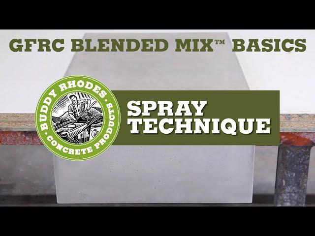 GFRC Blended Mix Basics - Spray Technique