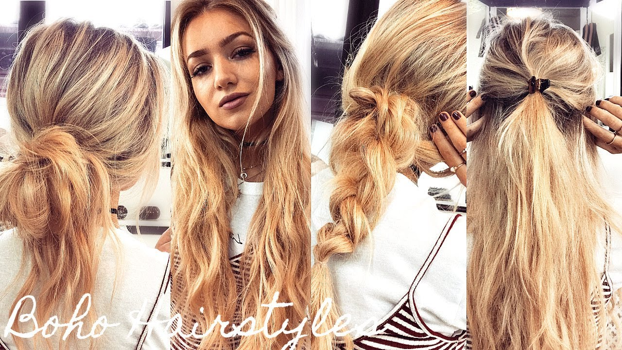 One Minute Boho Hairstyles / Quick & Easy Running Late