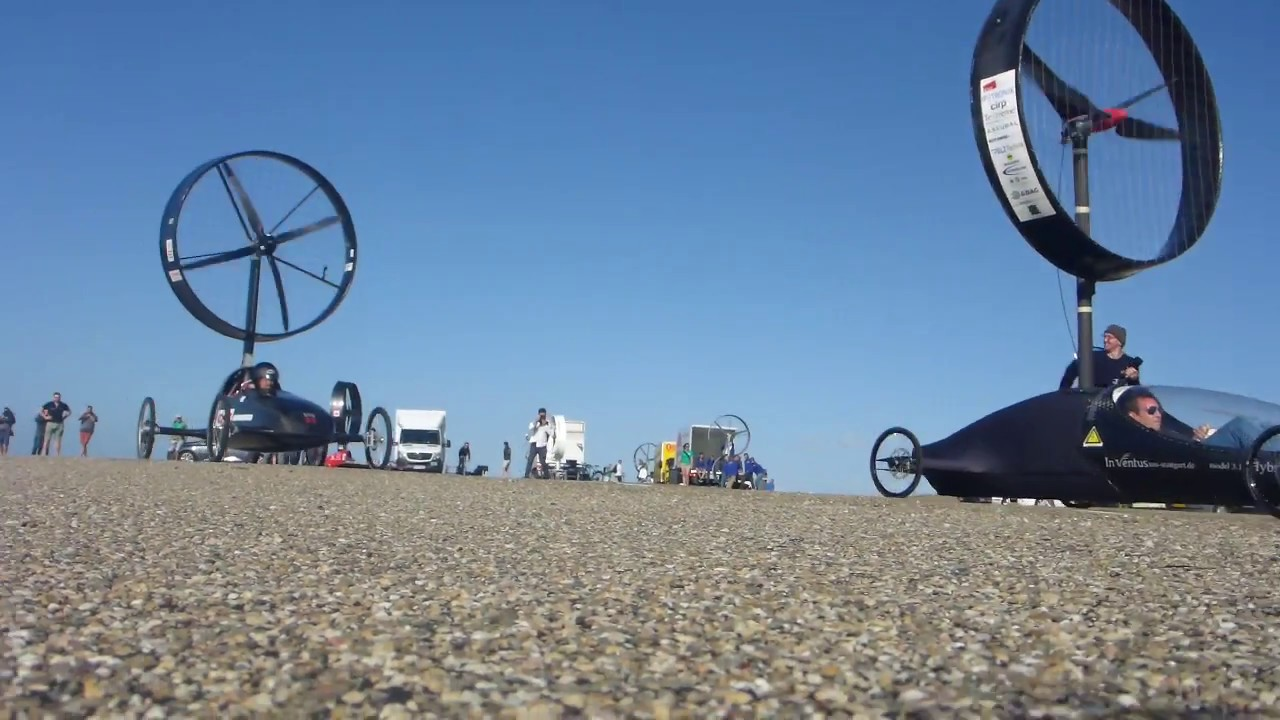 Drag race into the wind - winDTUrbineracer vs. Inventus, Stuttgart | winDTUrbineracer