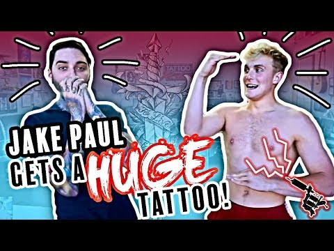 JAKE PAUL gets HUGE Tattoo!! by Romeo Lacoste
