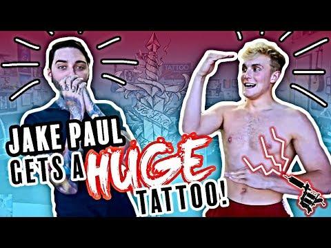 JAKE PAUL gets HUGE Tattoo!! by Romeo Lacoste