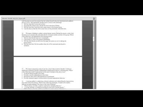 Testing Skills ATI Mental Health 1 0 YouTube