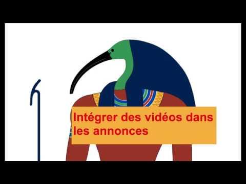 Intégration d'une vidéo dans une annonce (ou dans le JDC)