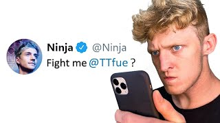 NINJA CHALLENGES ME TO BOXING MATCH