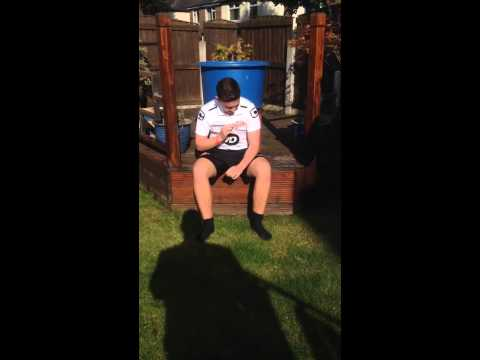 Luke Roskell ice bucket challenge in aid of once upon a smile