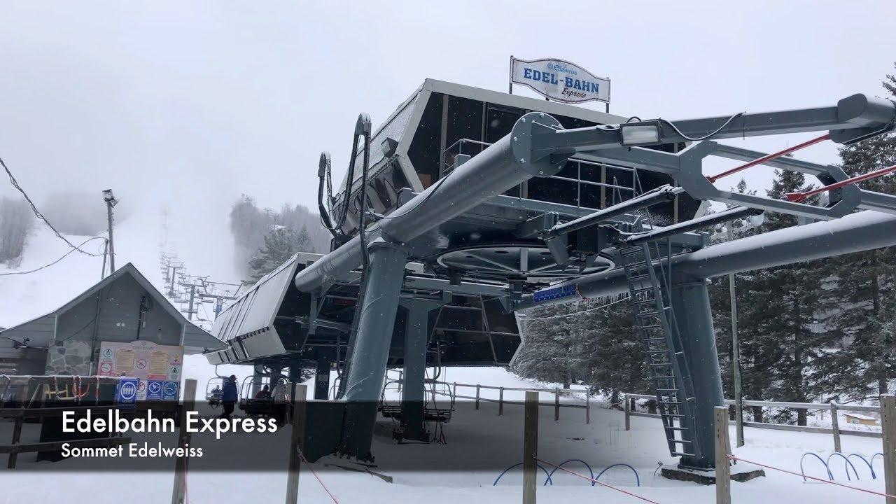 Edelbahn Express - Sommet Edelweiss / Doppelmayr Quad Detachable Chairlift