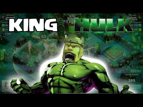 Clash of clans - King Hulk (w/ Smashing gameplay)