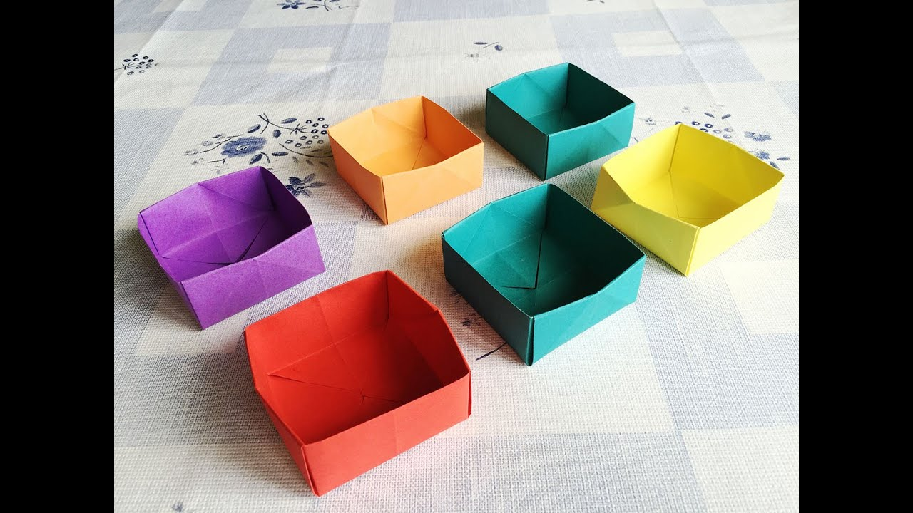 Easy Origami Box Youtube