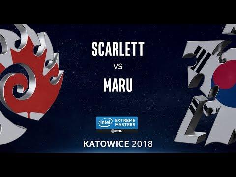 StarCraft 2 - Scarlett vs. Maru (ZvT) - IEM Katowice 2018 - NA Qualifier LB Ro4