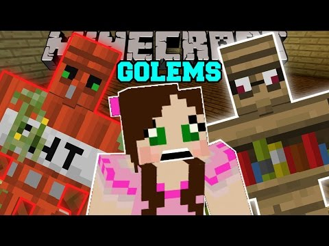 Thumbnail: Minecraft: TOO MANY GOLEMS! (TNT GOLEM, DIAMOND GOLEM, EMERALD GOLEM, & MORE!) Mod Showcase
