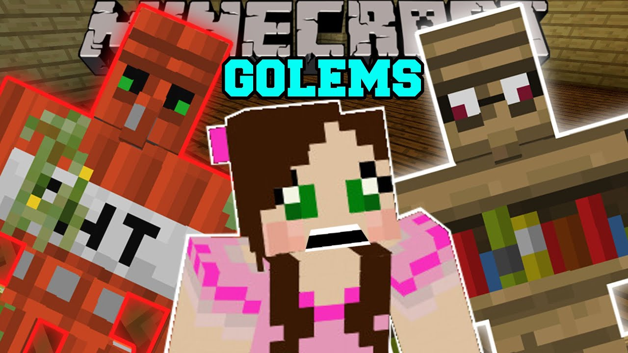 Minecraft Too Many Golems Tnt Golem Diamond Golem Emerald Golem More Mod Showcase Youtube