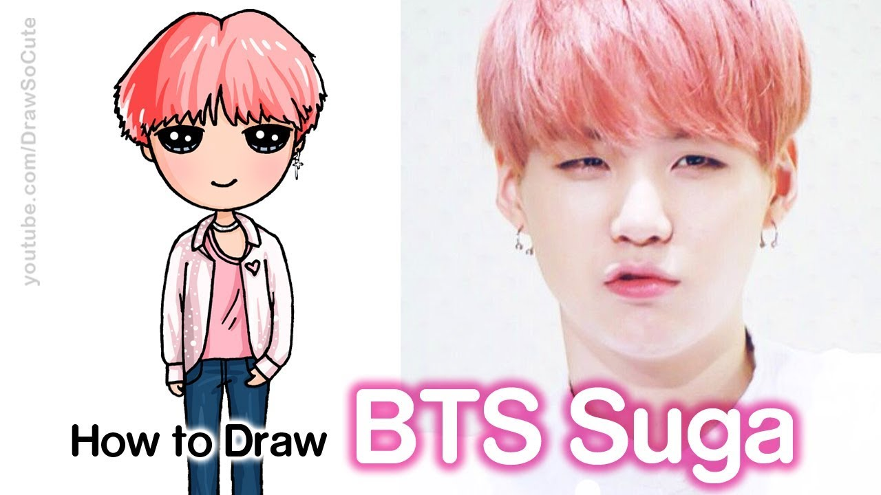 How To Draw Suga Bts Youtube