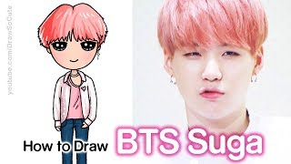How to Draw Suga | BTS