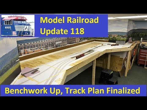 MRUV 118: Benchwork Installed and Track Plan is Finalized
