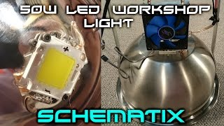 How To: Build a 50w LED Workshop/Shed Light, 6000 Lumens!