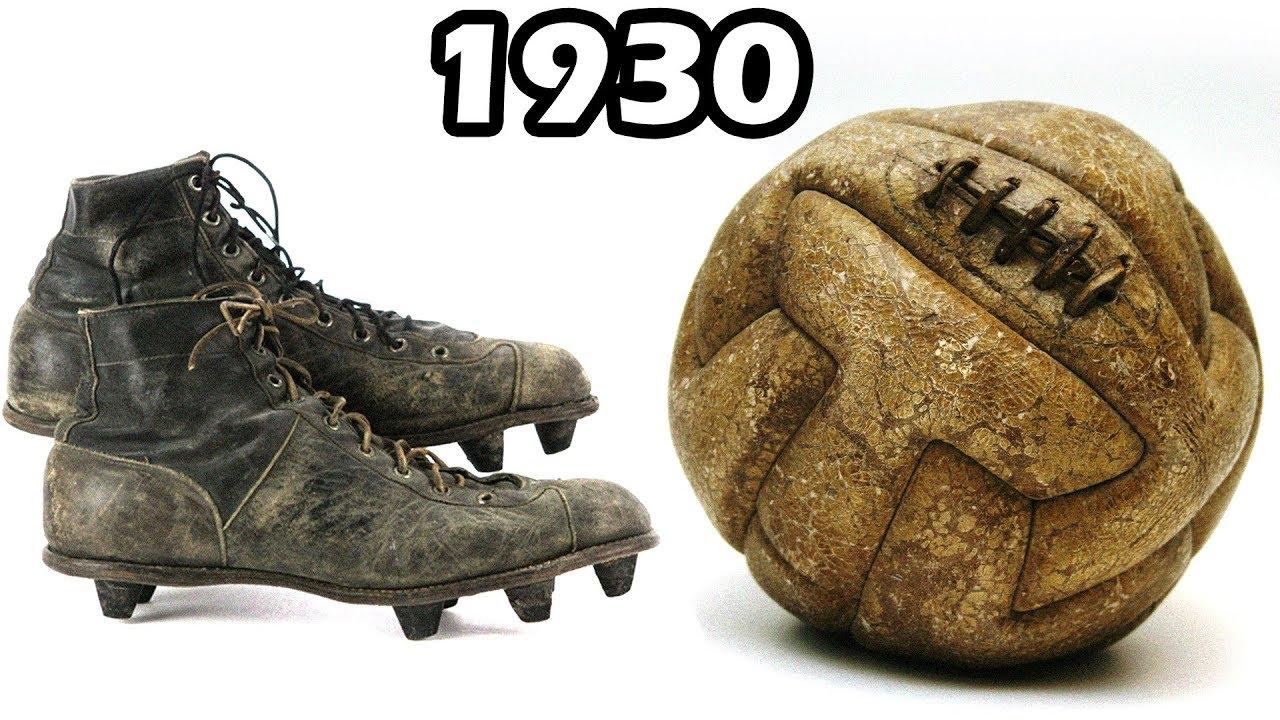 bf1fe40e85d The Evolution of Football Boots   Soccer Ball (1930 - 2018) - YouTube