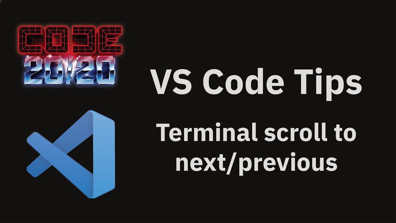 Terminal scroll to next/previous