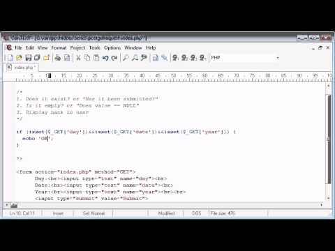 Beginner PHP Tutorial - 69 - Working with $_GET Variables