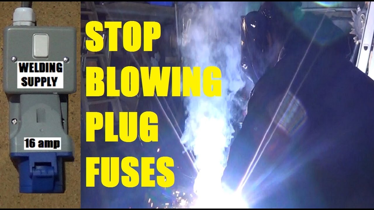 install 16 amp industrial socket for welder stop blowing 13 amp plug fuses using a blue cee form [ 1280 x 720 Pixel ]