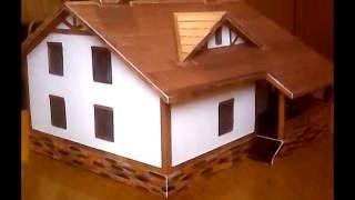 макет дома своими руками из бумаги (1)