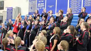 aitkin all starz celebrate their section 4a performance
