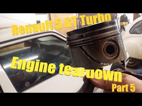 Renault 5 Gt Turbo Restoration - Engine Teardown. Part 5