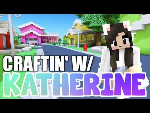 💙 Minecraft NEIGHBORHOOD! Craftin' W/ Katherine Ep. 21