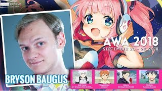 Gambar cover Anime Voice Actor Bryson Baugus interviewed at Anime Weekend Atlanta 2018