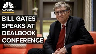 Bill Gates speaks at New York Times DealBook Conference - 11/6/2019