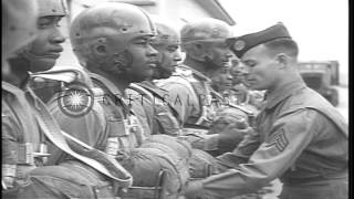 US 555th African American Paratrooper Infantry Battalion being trained