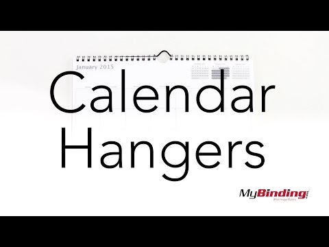 How To Use Wire Calendar Hangers