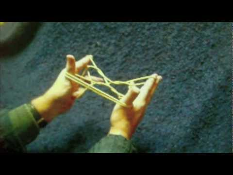Slow motion how to make some Inuit string figures