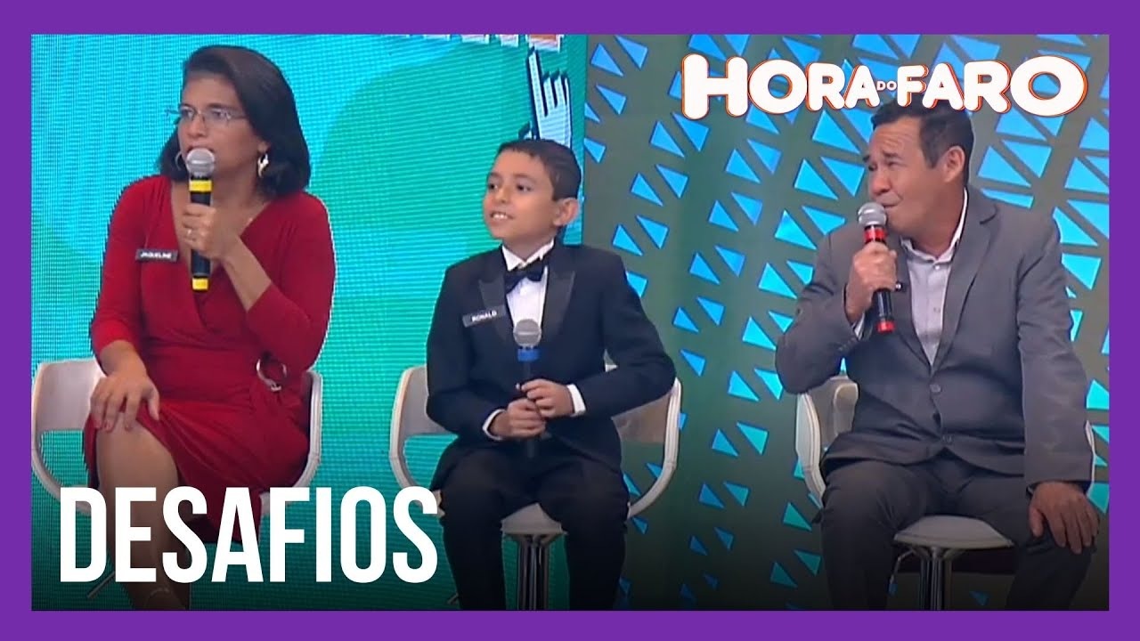 Pais de cantor de ópera mirim encaram desafio por prêmios do Hora do Faro