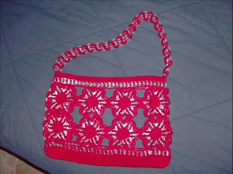 parte como hacer bolsa flores arillos ganchillo crochet recicla youtube