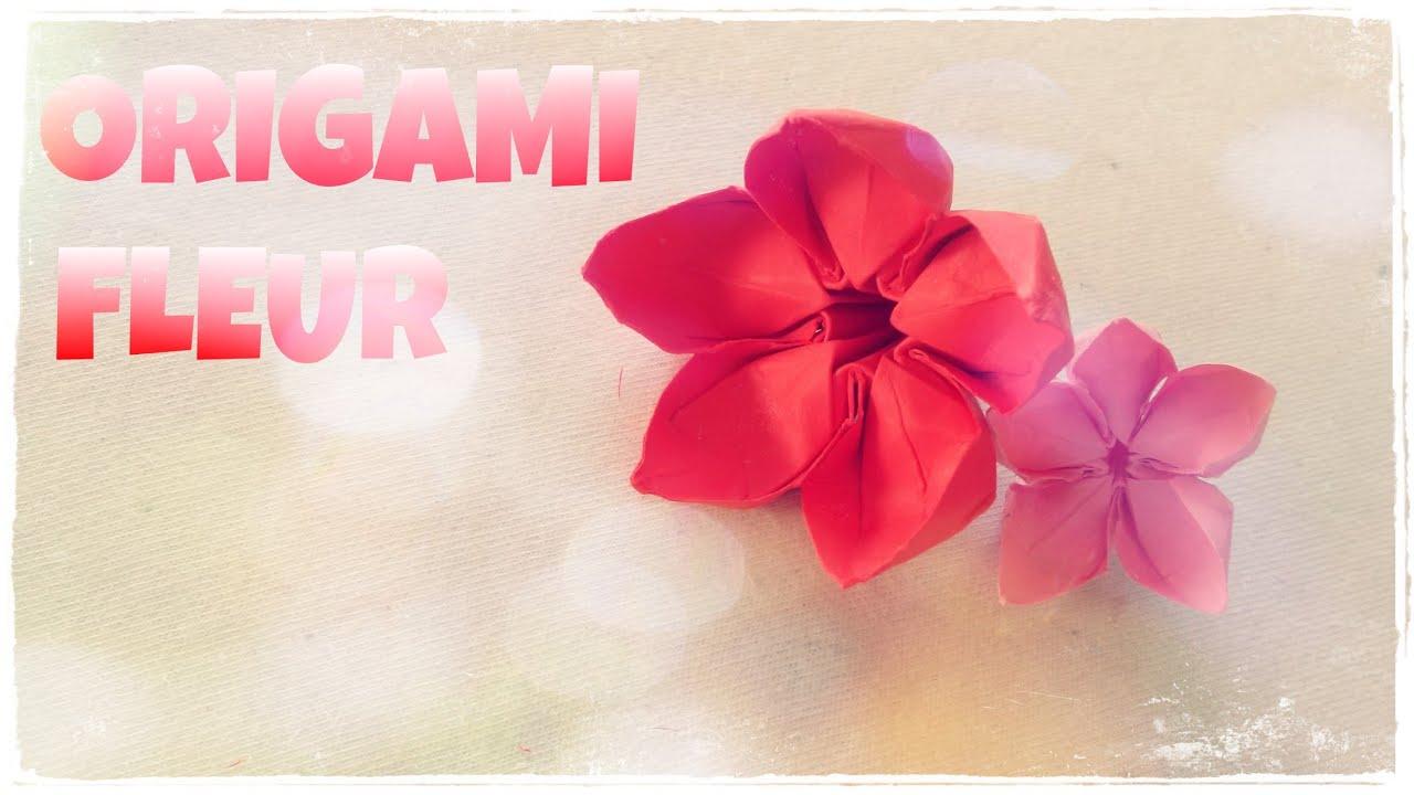 Comment faire une fleur en origami fleur en papier youtube - Comment faire une chaussure en papier ...