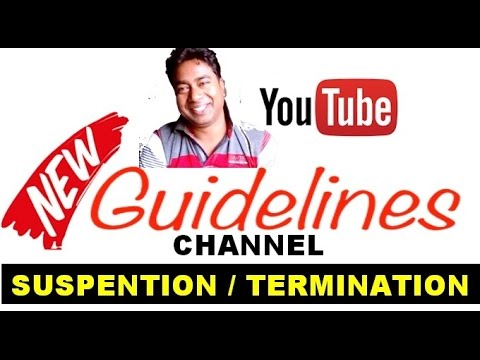 YouTube New Guidelines of Channel Suspension /Termination without any Strike !! Solution