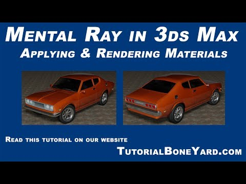 3ds Max tutorial on Rendering in Mental Ray with Materials