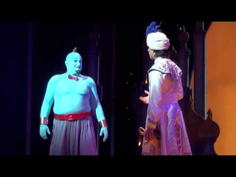 Genie's Jokes and Puns Part 11 - Aladdin A Musical Spectacular at Disneyland Resort (HD)
