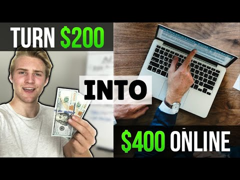 How To Turn $200 Into $400 ONLINE (Beginner Friendly)