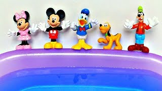 5 little Mickey Mouse jumping on the water bed Five little monkeys jumping on the bed Nursery Rhymes