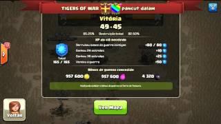 3 ESTRELAS EM CV9 COM VALQUIRIAS - clash of clans