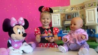 Кукла Беби Бон Катя и Минни Маус. Куклы беби борн игры для девочек. Эльвира как мама