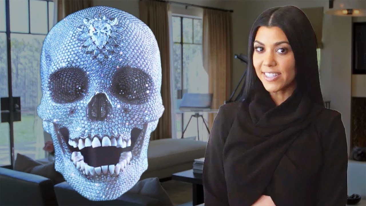 Inside Kourtney Kardashianu0027s Home For Her AD Cover Shoot   YouTube Part 43