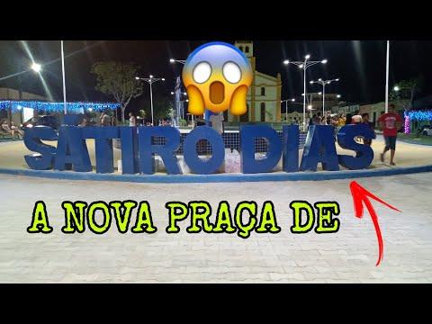 A NOVA PRAÇA DE SÁTIRO DIAS A NOITE !!!