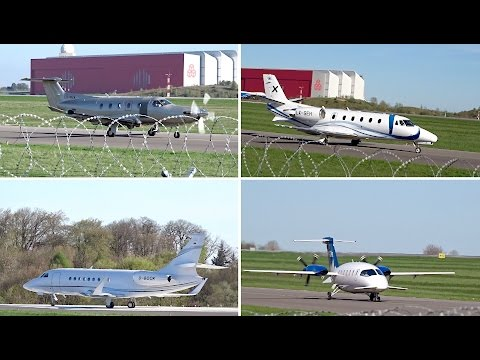 7 minutes of General Aviation Action at Luxembourg Int'l Airport