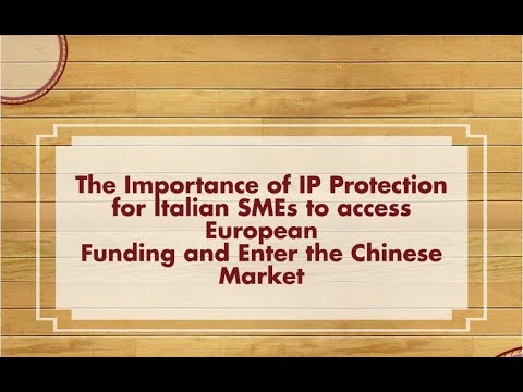 Training: The Importance of IP Protection for Italian SMEs - Italian